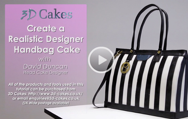 584aeecec762 Create a Realistic Designer Handbag Cake - 3D Cakes Video Tutorials