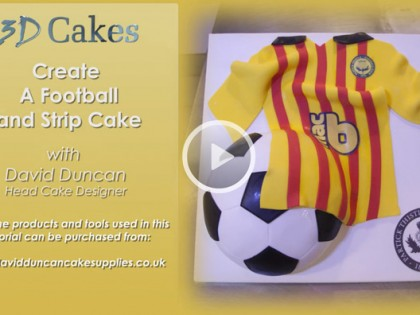 Football and Strip Cake