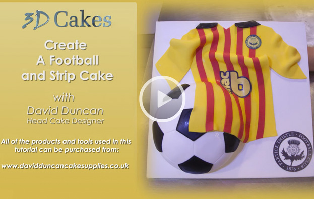 Create a football and strip cake