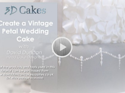Create a Vintage Petal Wedding Cake